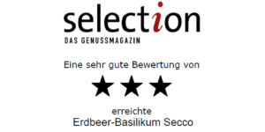 Urkunde Erdbeer Basilikum Secco
